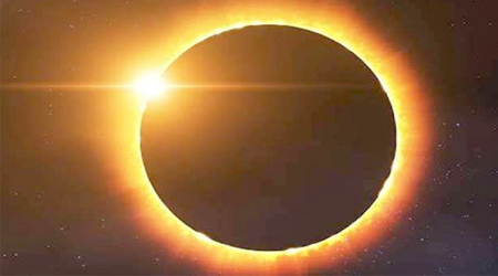After the lunar eclipse, this time the solar eclipse