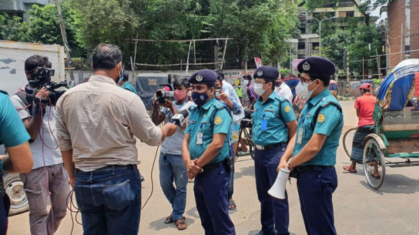 Violation of lockdown rules, hundreds arrested in Lalbagh